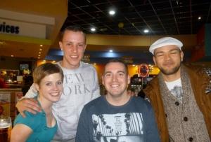 l-r: Katie, Craig, Matt L and Luke