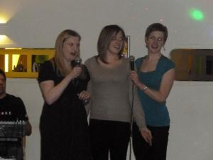 l-r: Helen, Jess and Katie, also known as Katy and the Perries