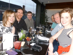 l-r clockwise: Jess, Matt, Martin, Nick, Mike, Katie