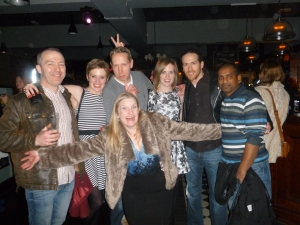 How many members can we fit in one photo? l-r: Noel, Katie, Gary, Jess, Matt and Het, with Helen in the front
