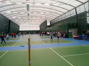 The impressive specialised badminton centre at William Edward School