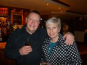 Liane at last years Christmas do with John 'Elvis' Tilbury