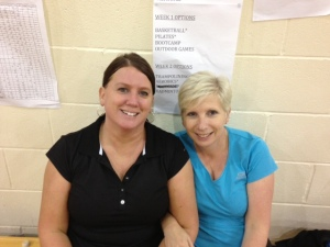 l-r: Tracy and Liane ready to roll