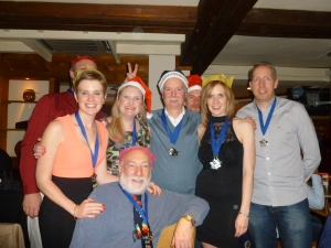 l-r: Katie, Helen, Mike F, Jess, Gary and Frank at the front