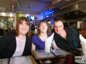 l-r: Caroline, Janet and David