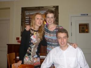l-r: Sarah, Katie and Matt