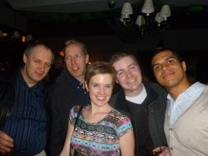 l-r: Nick, Gary, Katie, Martin and Joel