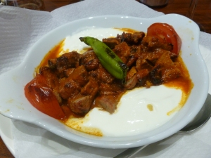My yummy lamb shish with yoghurt