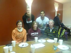 The Badminton Brigade l-r: Katie, Dan, Jess, Joel and Mike
