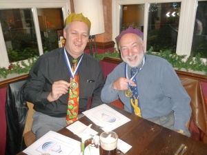 l-r: Nick and Frank with their medals