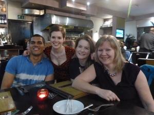 l-r: Joel, Katie, Rhianna and Diane