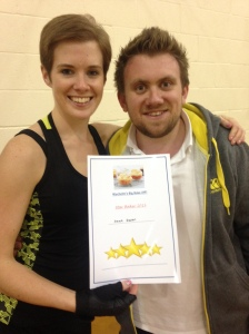 Giving our Star Baker his certificate!